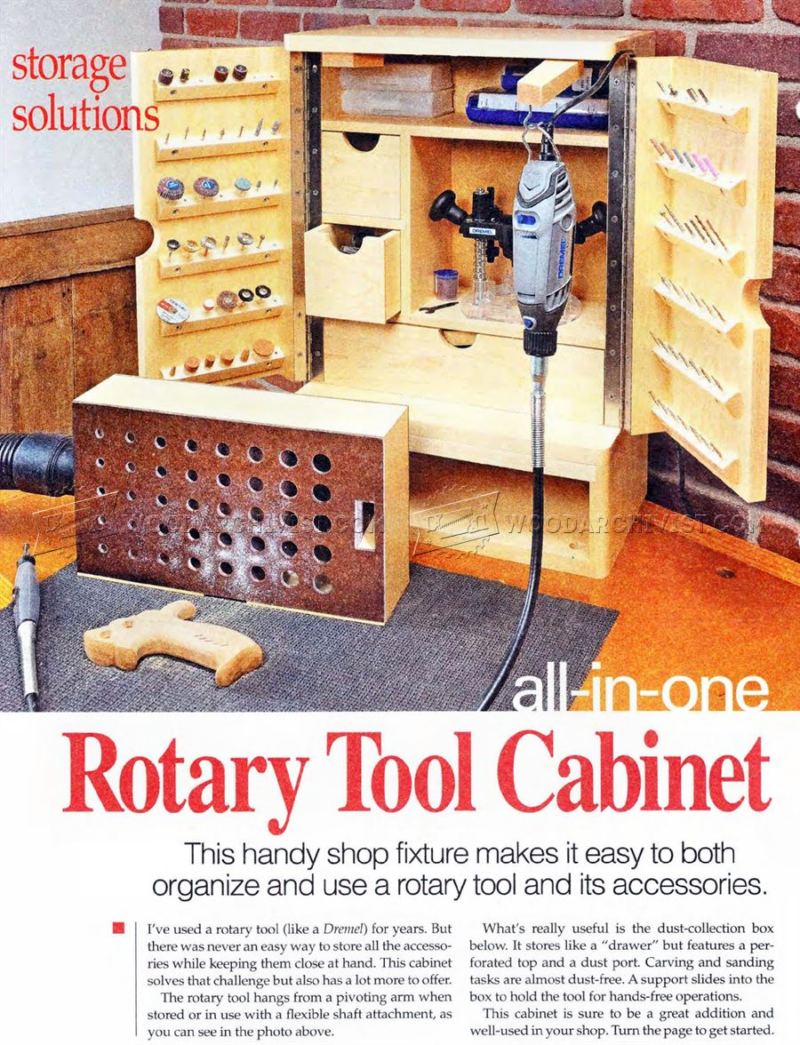 Rotary Tool Cabinet Plans O WoodArchivist