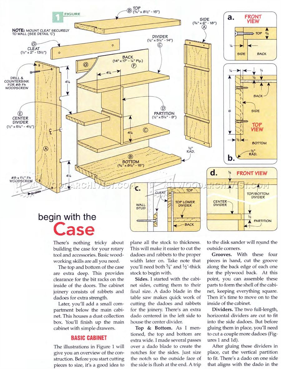 Rotary Tool Cabinet Plans - Workshop Solutions