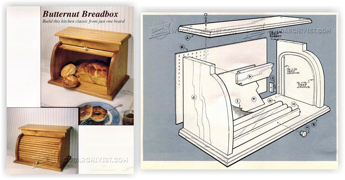 Tambour Bread Box Plans • WoodArchivist