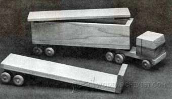 3063-Wooden Toy Truck Plans