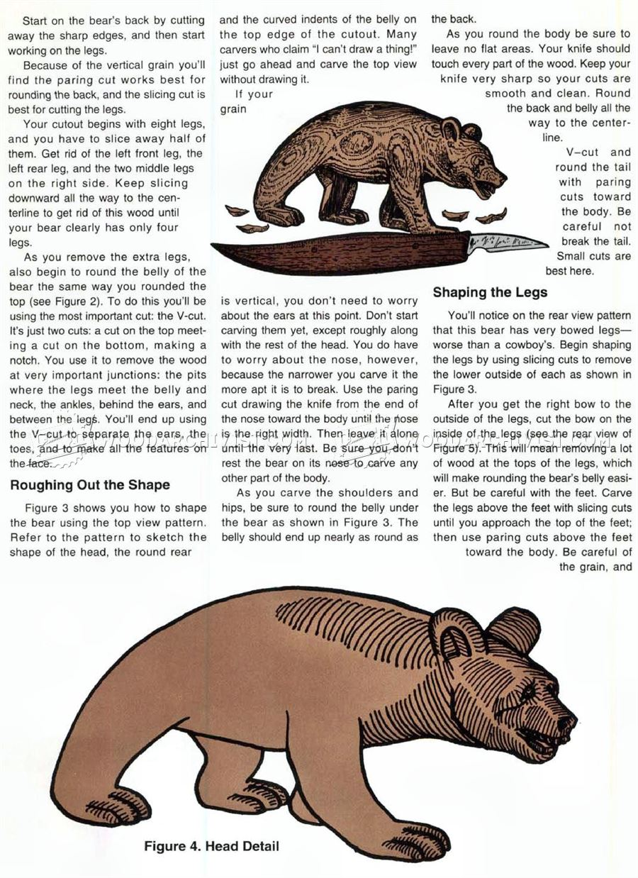 Carving bear wood patterns woodarchivist