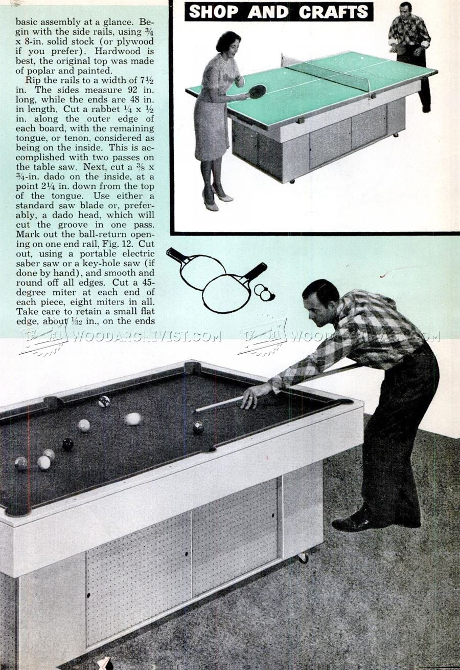 Diy Pool Table Woodarchivist