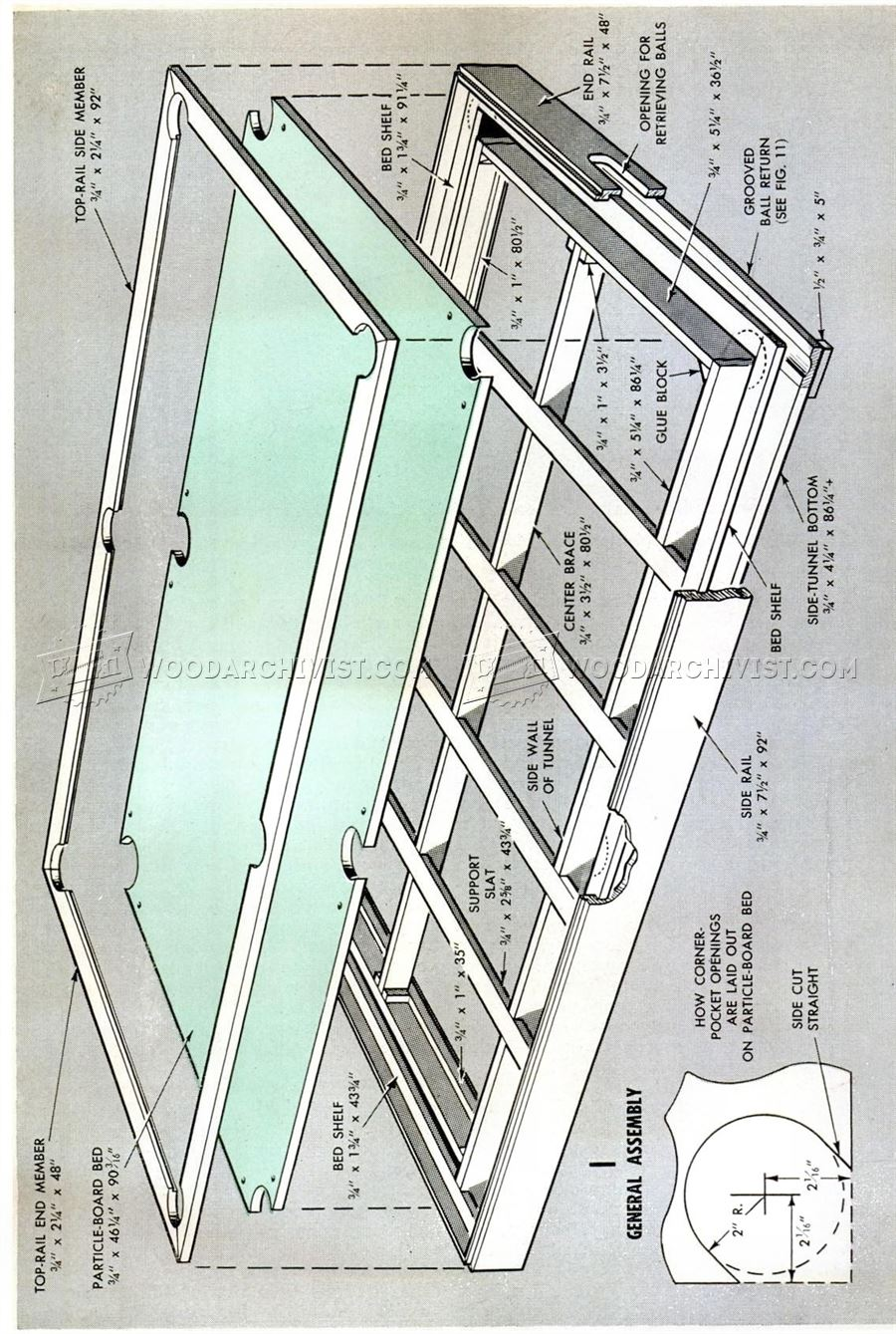 Diy pool table woodarchivist for Pool design blueprints