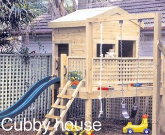 3072-Backyard Playhouse Plans