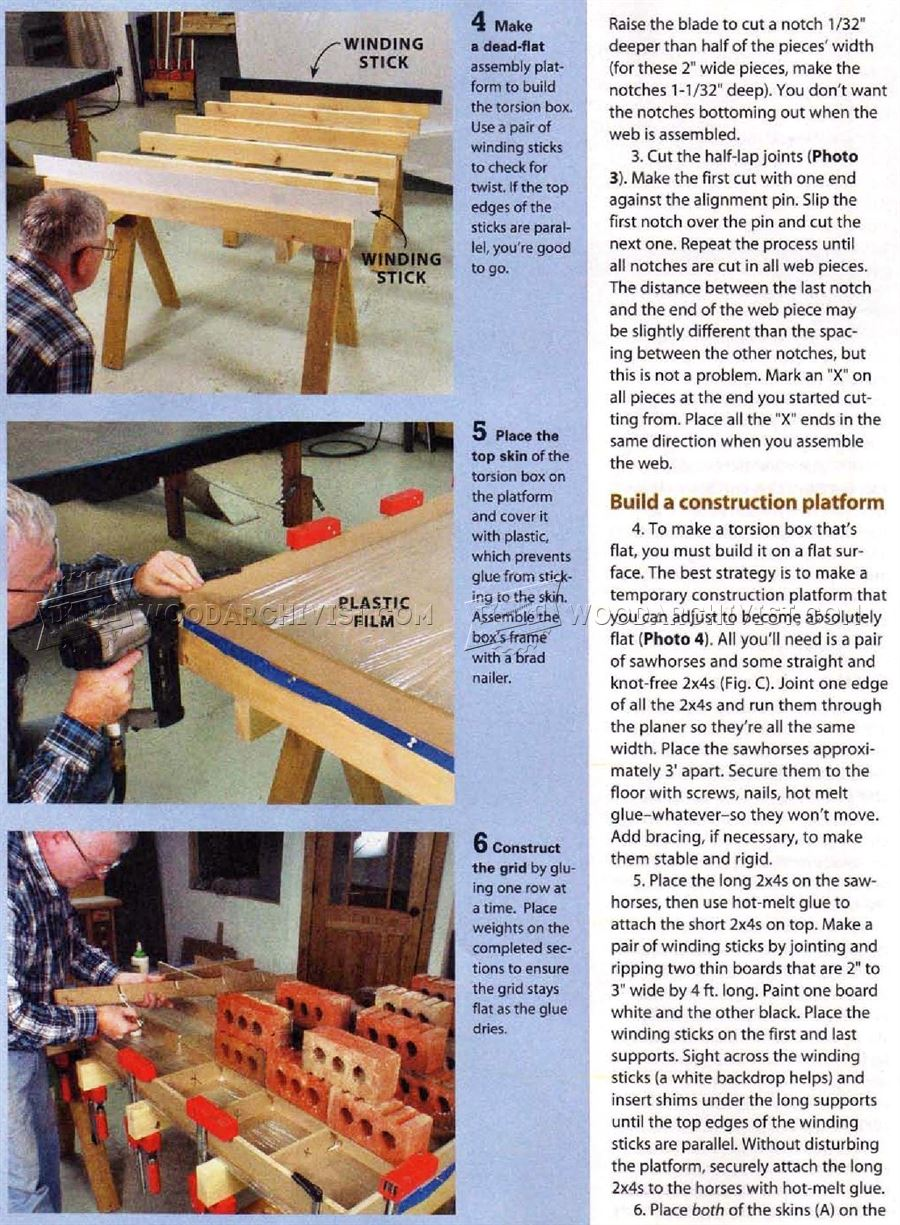 #3073 Woodworking Assembly Table Plans