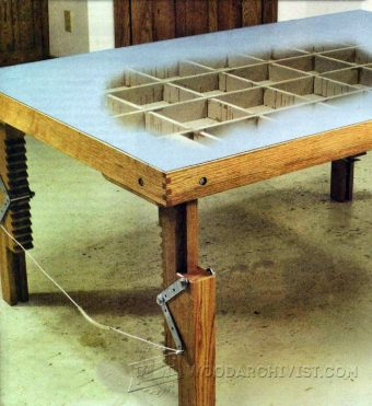 3073-Woodworking Assembly Table Plans