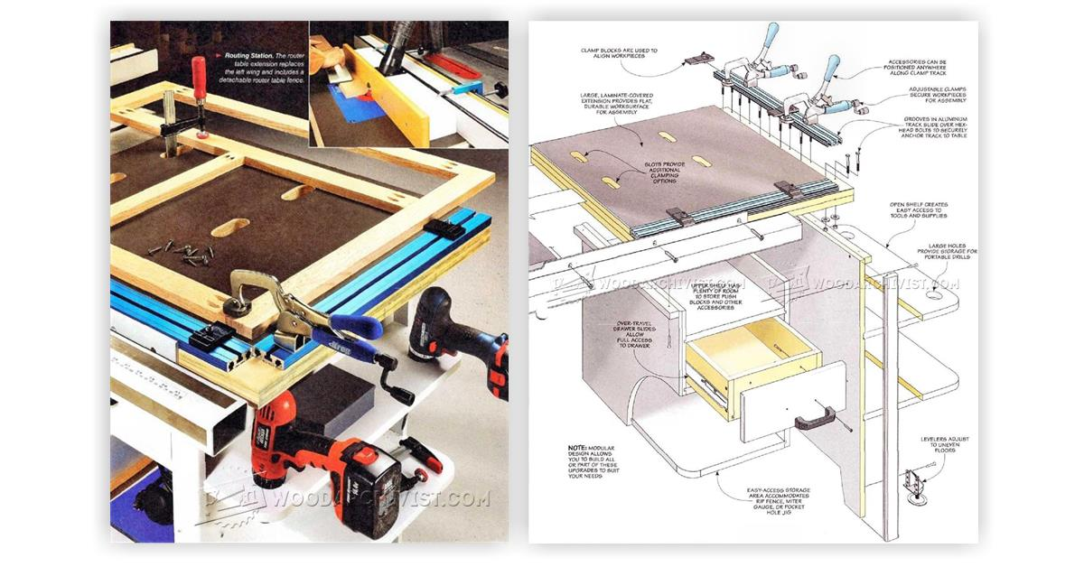 how to build a table saw workstation