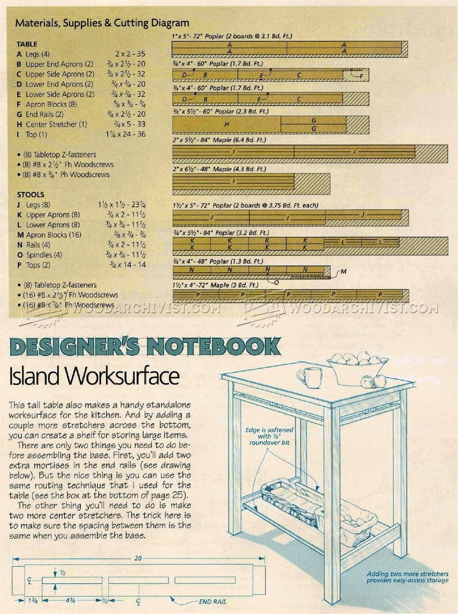 Tall Kitchen Table Plans