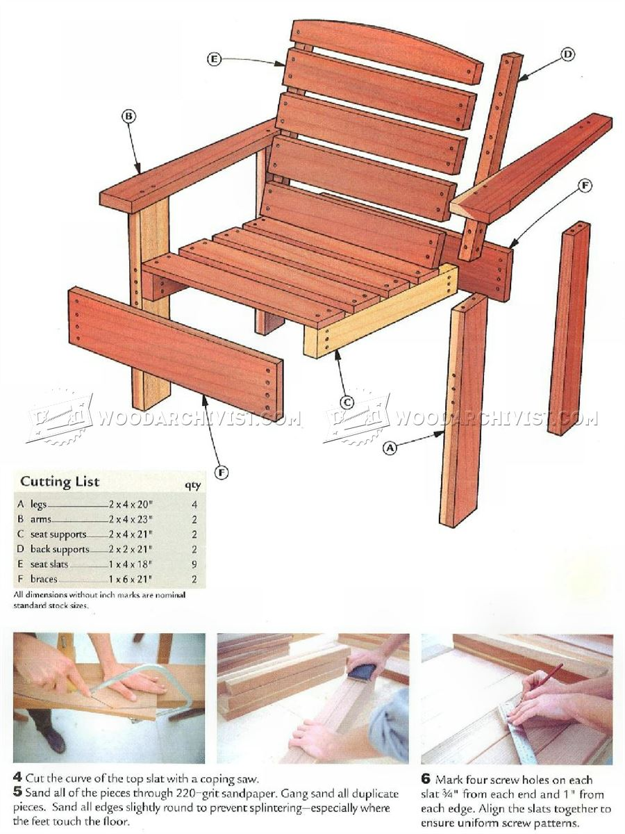 Deck Chair Plans - Outdoor Furniture Plans