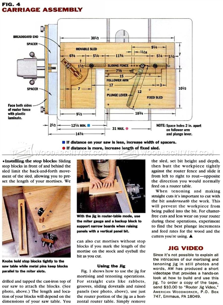 Diy Mortise And Tenon Jig Woodarchivist
