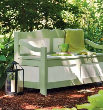 3084-Outdoor Storage Bench Plans