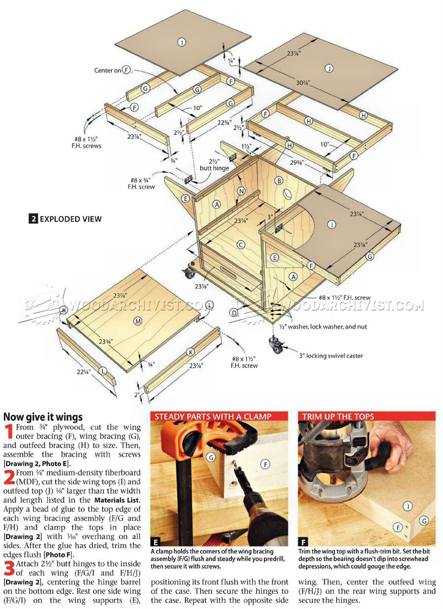 3091 Table Saw and Router Workstation Plans - Router Table Saw