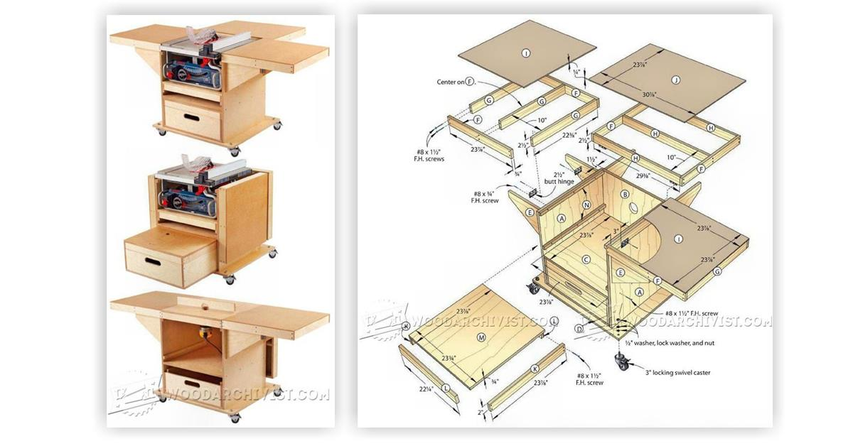 Table Saw and Router Workstation Plans • WoodArchivist