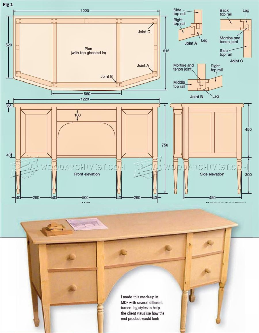 Dressing Table Plans