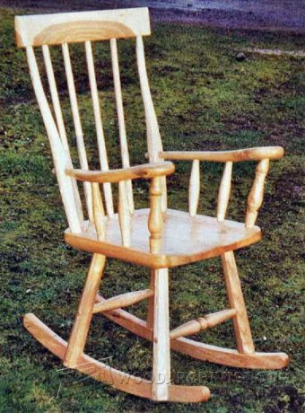 3098-Shaker Rocking Chair Plans