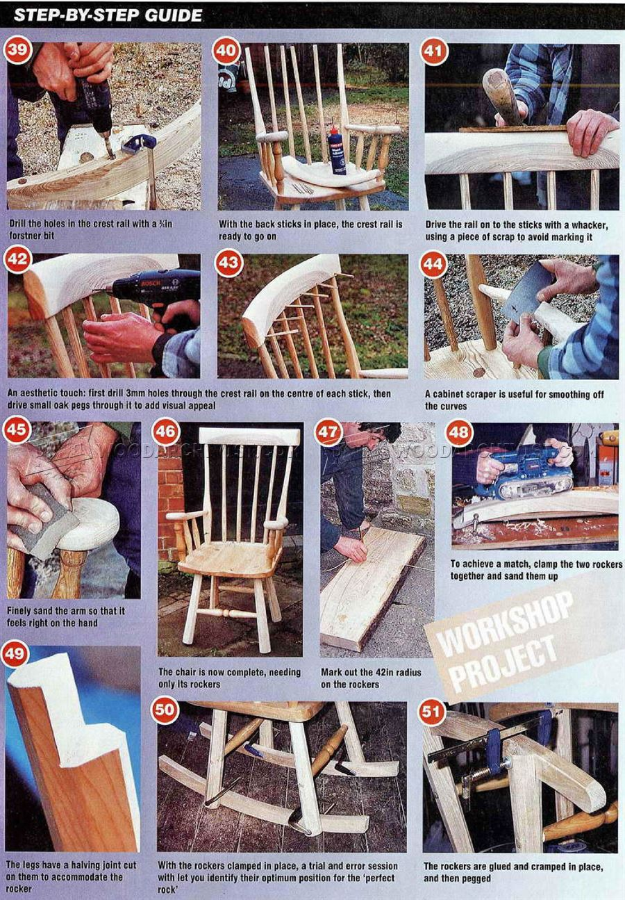 Shaker Rocking Chair Plans