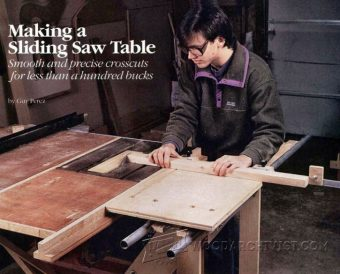 Diy Sliding Table Woodarchivist