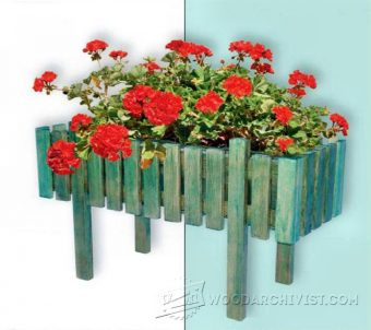 3108-Patio Planter Plans