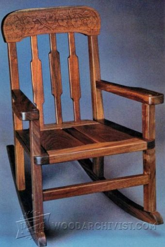 3110-Kids   Rocking Chair Plans