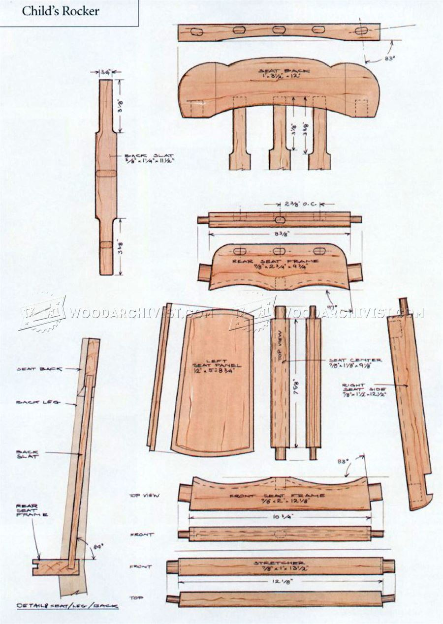 #3110 Kids Rocking Chair Plans