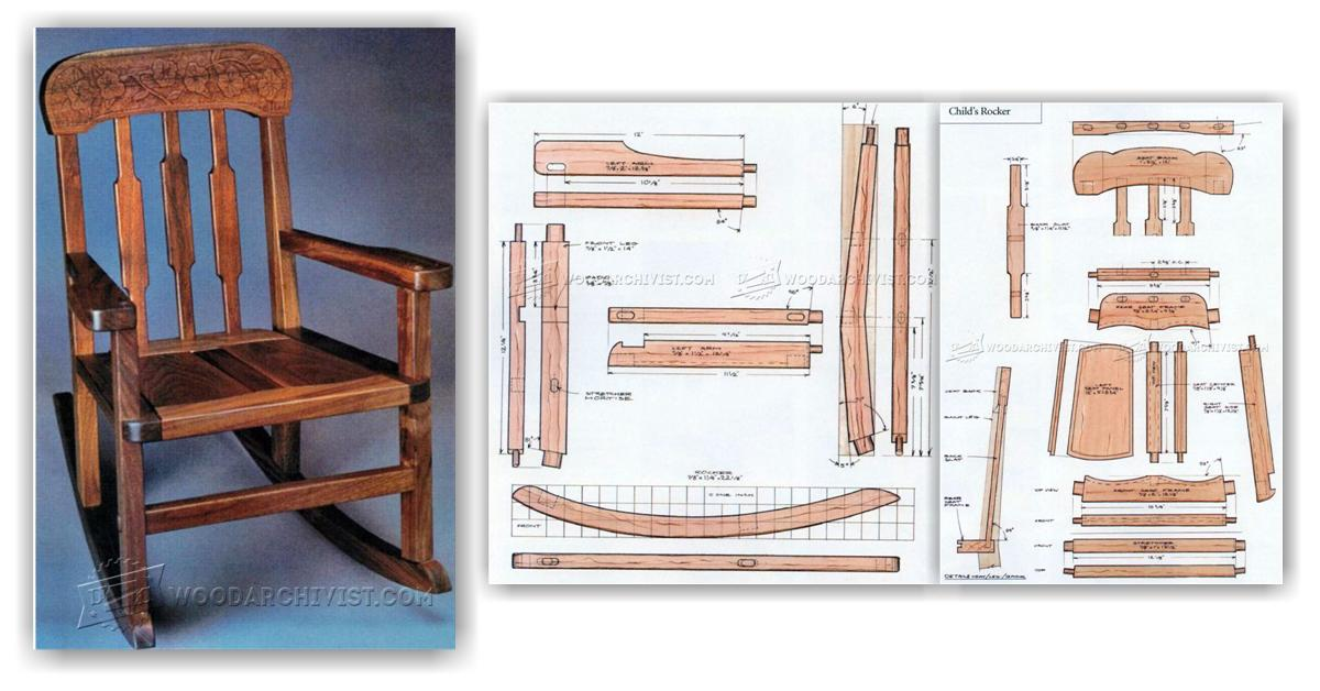 Kids Rocking Chair Plans • WoodArchivist