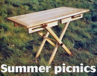 3112-Folding Picnic Table Plans