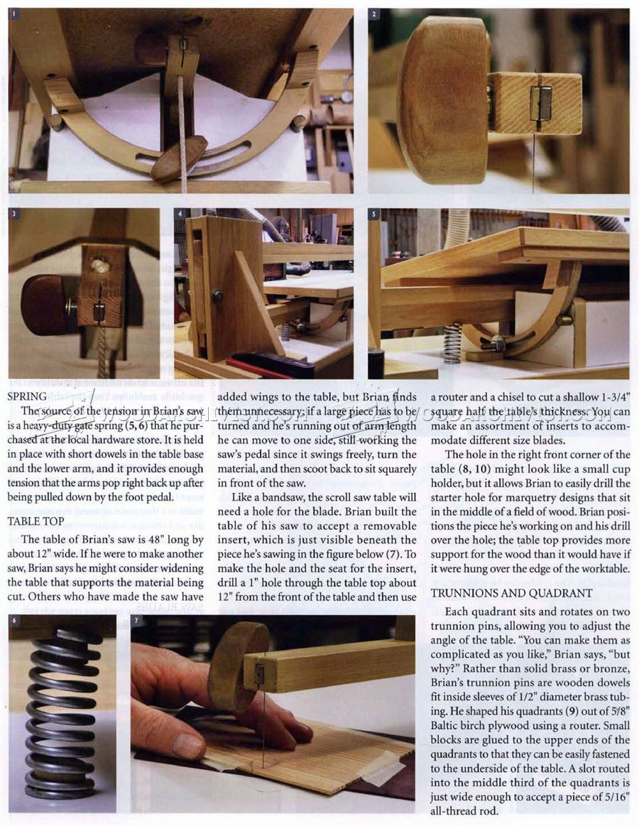 Foot Powered Scroll Saw Plans