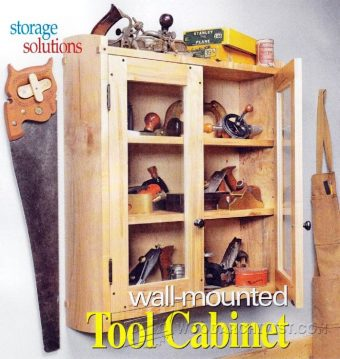 3119-Wall Tool Cabinet Plans