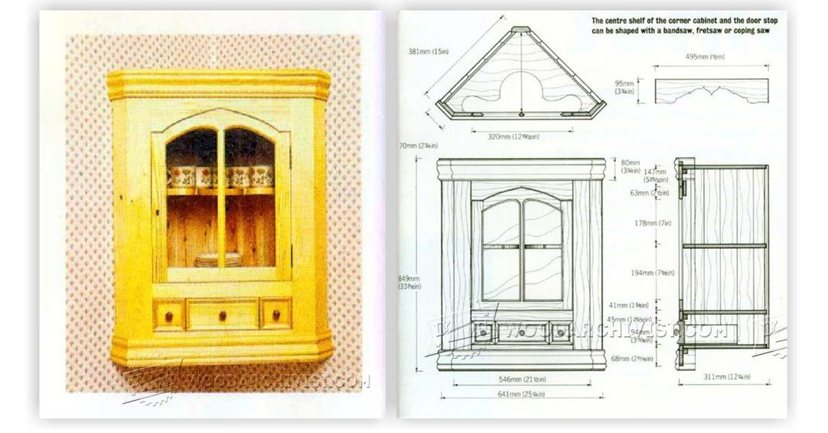 ana white corner step instructions cupboard projects cabinet diy plans