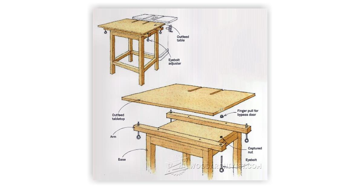 Adjustable Table Saw Outfeed Table Woodarchivist