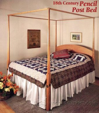 3142-Pencil Post Bed Plans