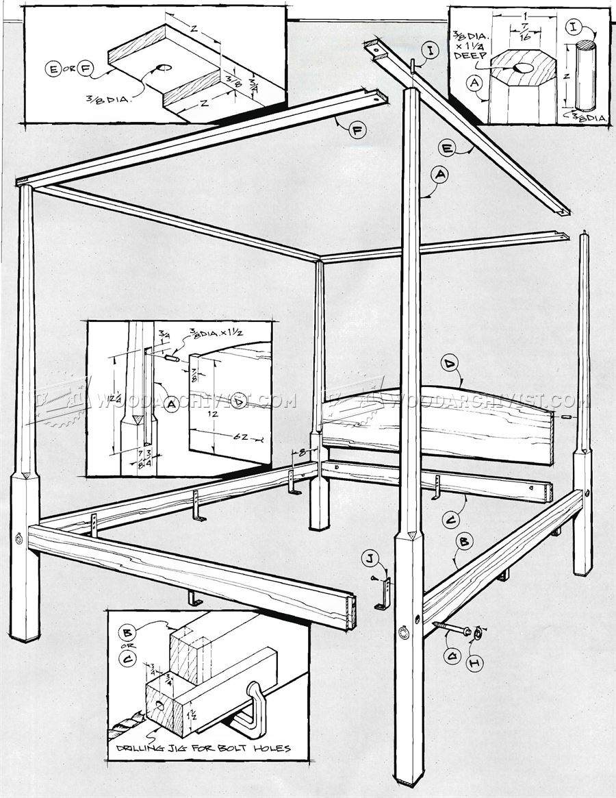 Pencil Post Bed Plans - Furniture Plans
