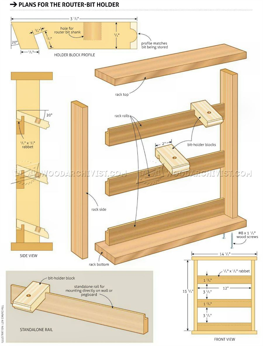 Router Bit Holder Plans Woodarchivist