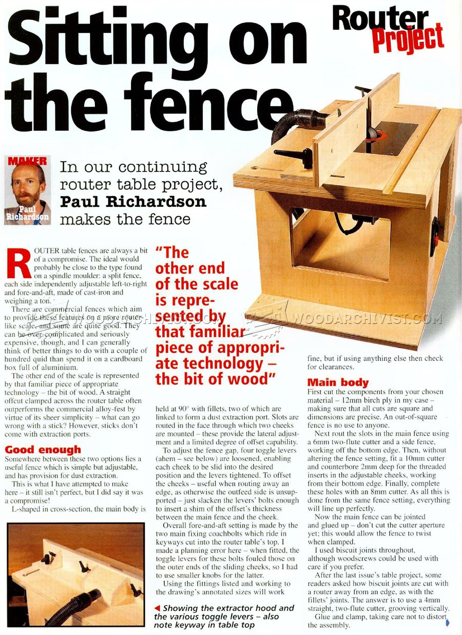 #3149 DIY Router Table Fence