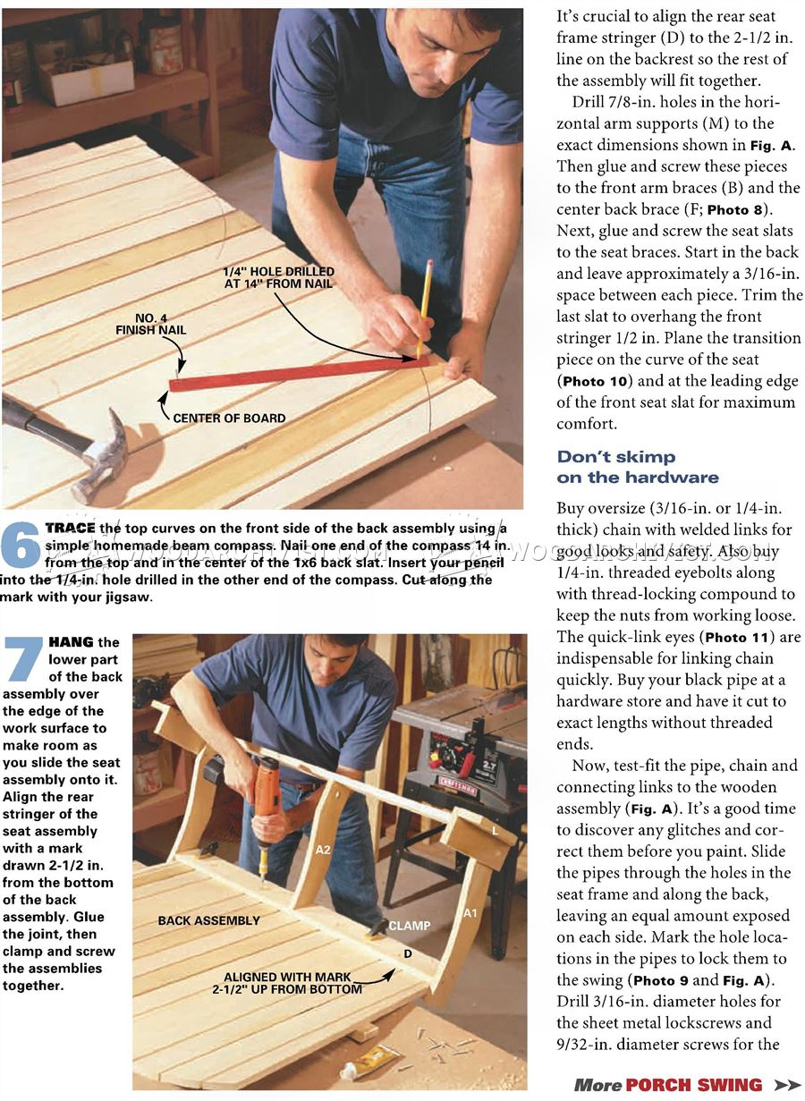 Adirondack Porch Swing Plans