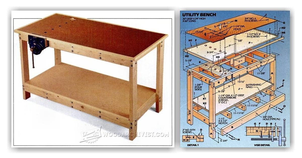 Garage Workbench Plans • WoodArchivist