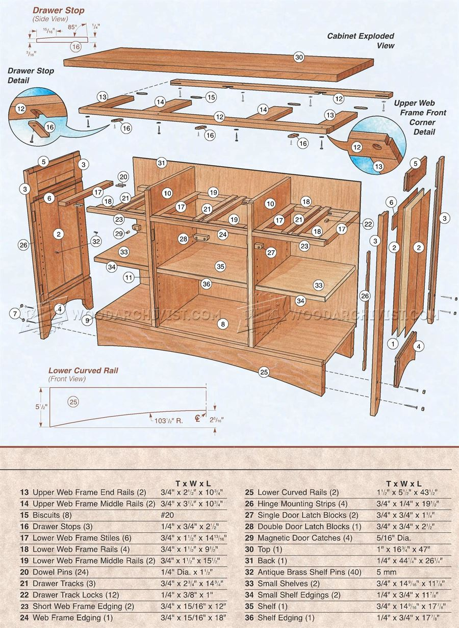 Arts and Crafts Hutch Plans
