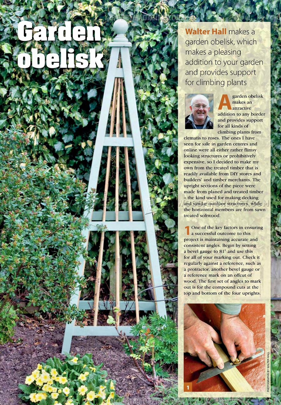 Garden Obelisk Plans Woodarchivist