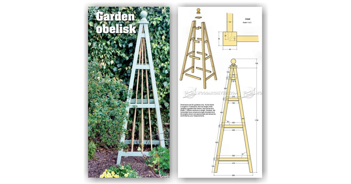 Diy wood shed plans woodworking best free home for Garden obelisk designs