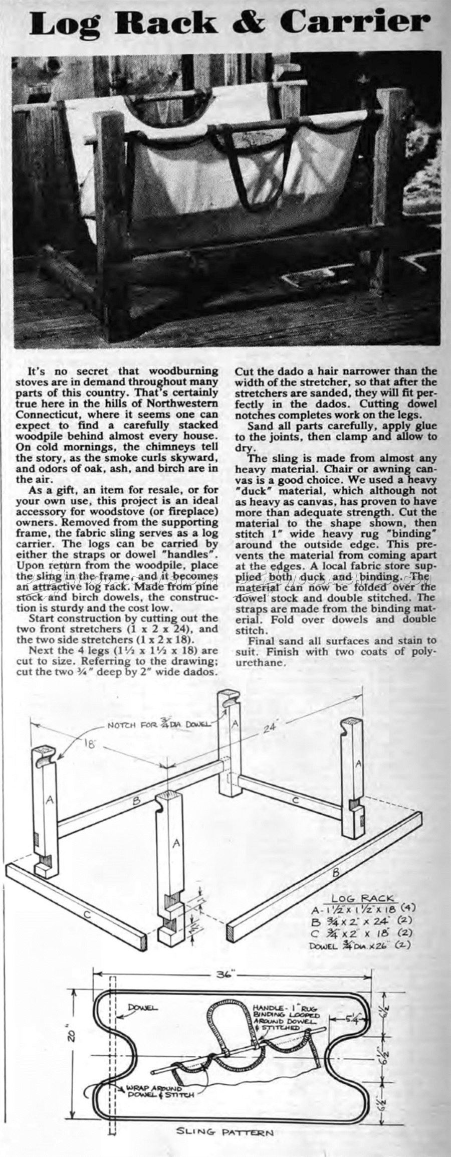#3168 Log Rack and Carrier Plans