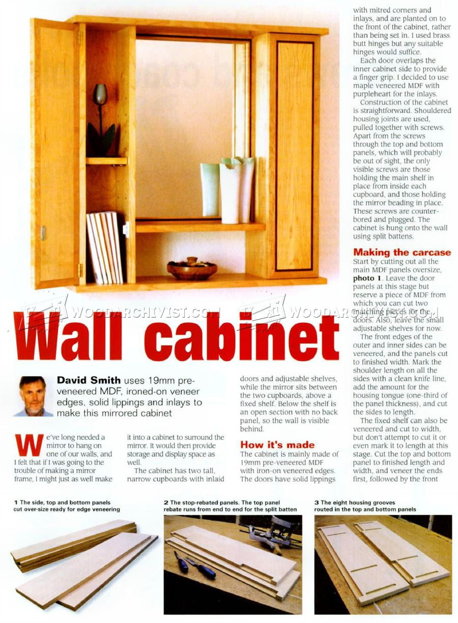 Mirror Wall Cabinet Plans