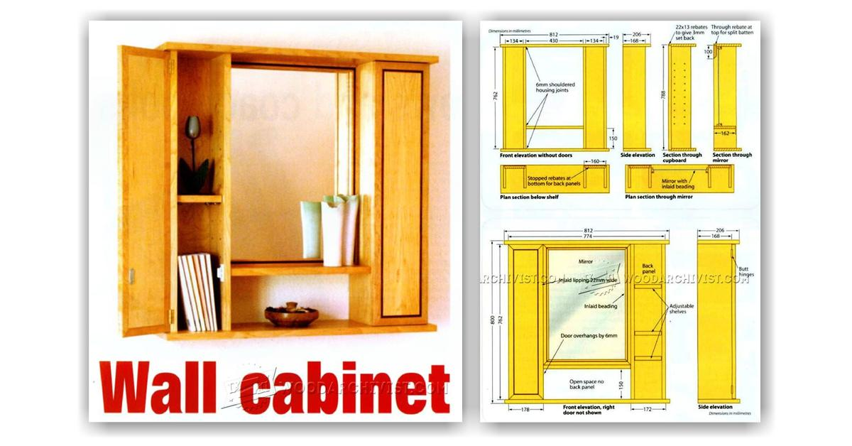 Mirror Wall Cabinet Plans Woodarchivist