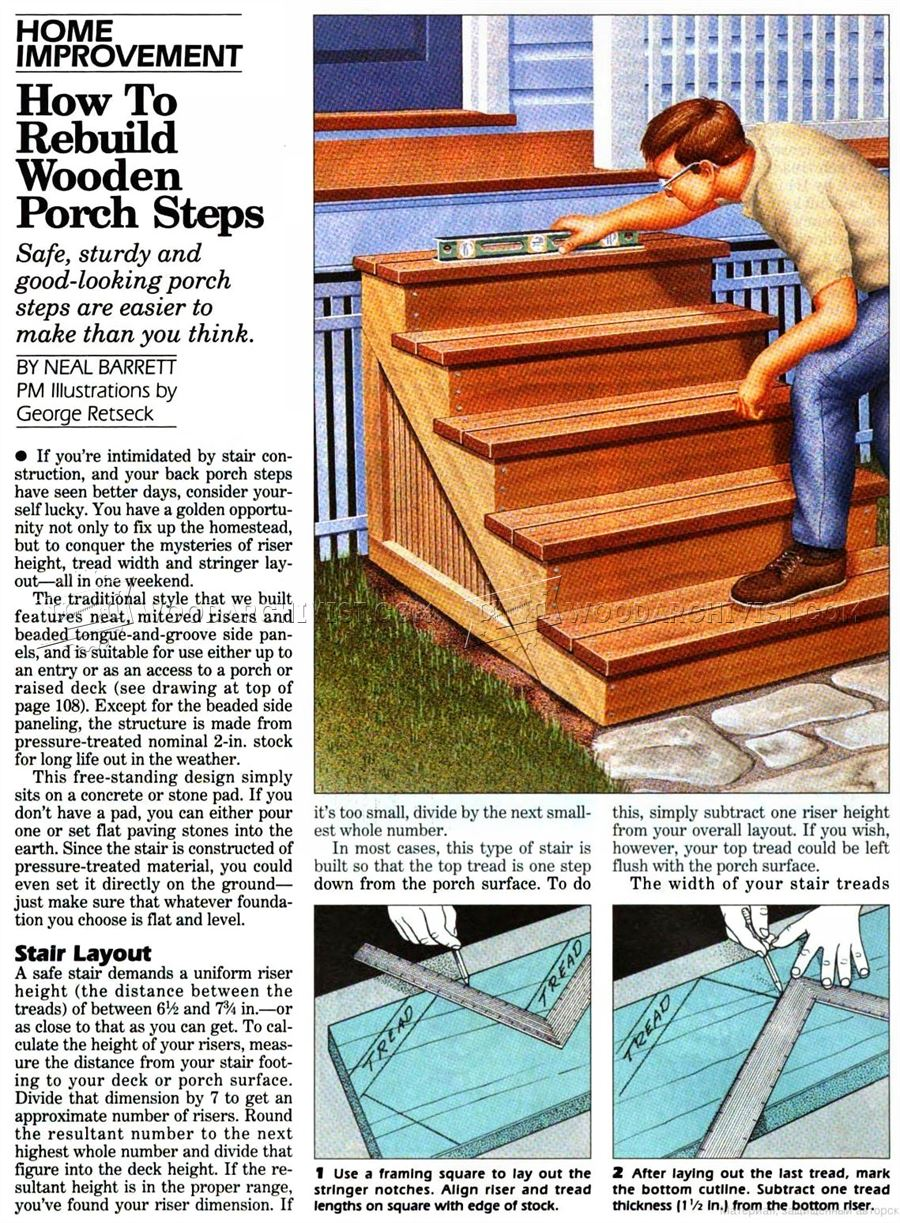 Building Porch Steps