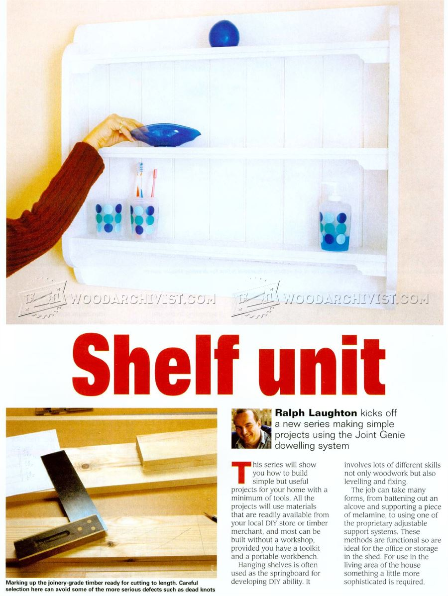 Bathroom Shelf Unit Plans
