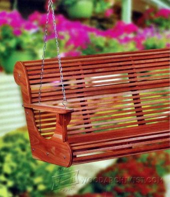 Adirondack Porch Swing Plans • WoodArchivist