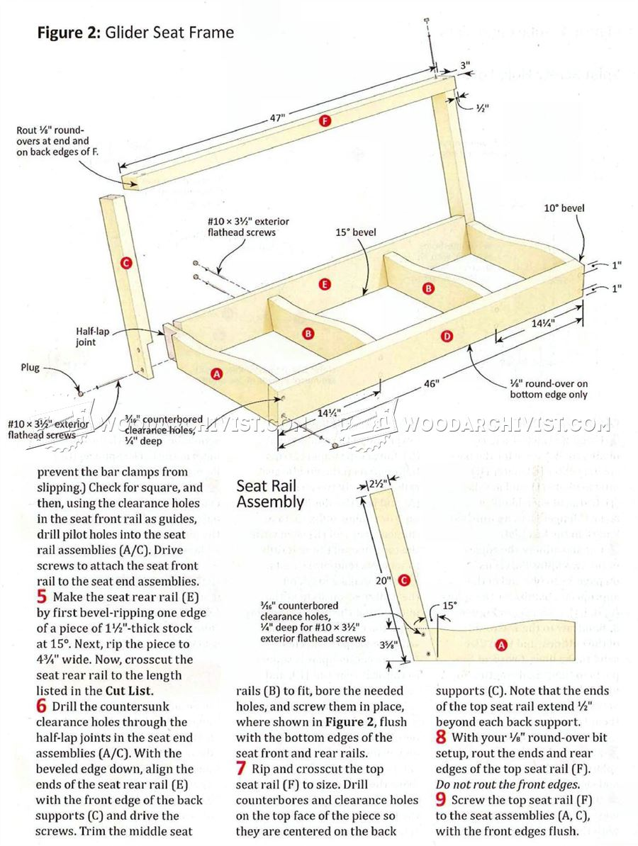 ... addition Lawn Swing Plans Free. on outdoor wooden glider bench plans