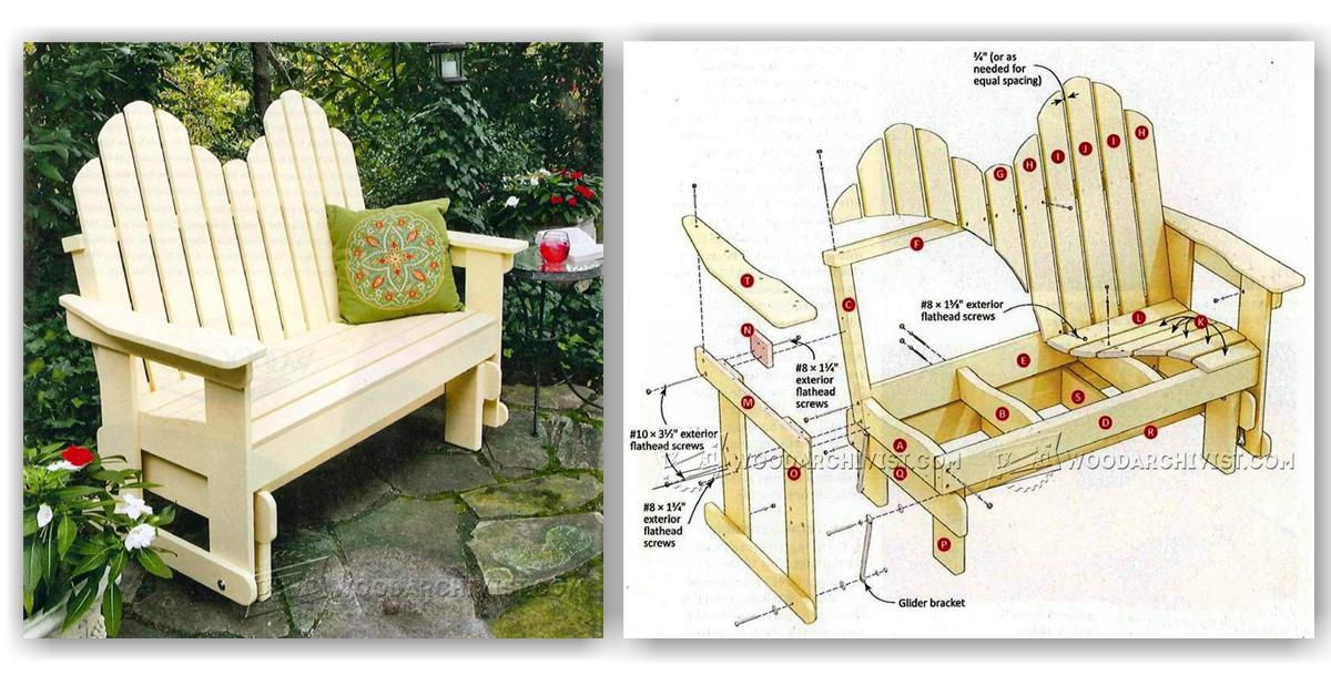 Adirondack Glider Bench Plans • WoodArchivist