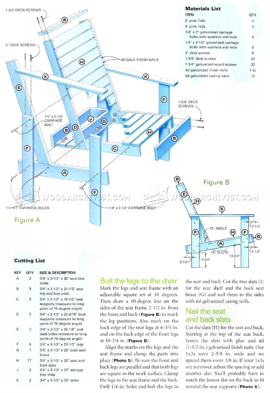 Outdoor Lounge Chair Plans