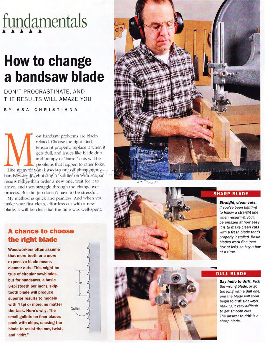 #3194 How to Change Bandsaw Blade