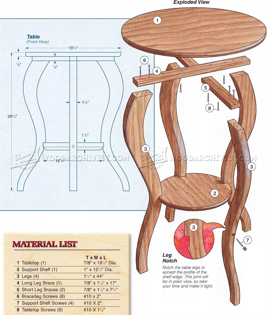 Accent Table Plans